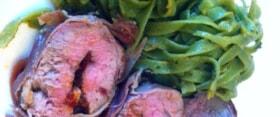 Gefülltes Schweinefilet in Parmaschinken
