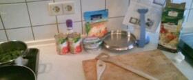 Cannelloni mit Spinat und Frischkaese